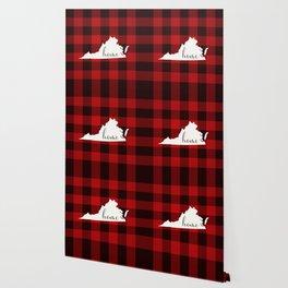 Virginia is Home - Buffalo Check Plaid Wallpaper