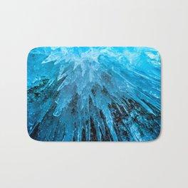 Ice Stalactites Bath Mat