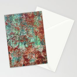 Abstract Rust on Turquoise Painting Stationery Cards