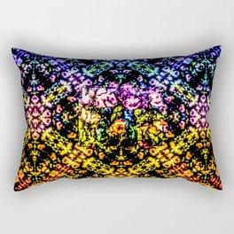 Rose Techno Colored Garden Rectangular Pillow