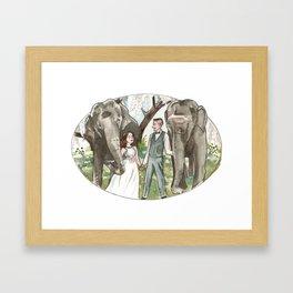 Elephant Bridesmaids Framed Art Print