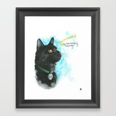 Black Cat-2 Framed Art Print