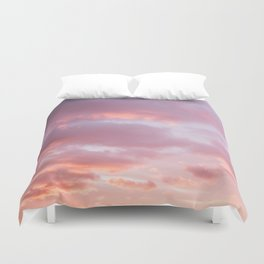 Unicorn Sunset Peach Skyscape Photography Duvet Cover