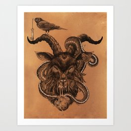 Coffee Goat Art Print