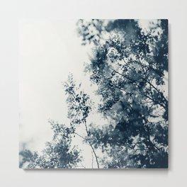 Blue Leaves #2 Metal Print