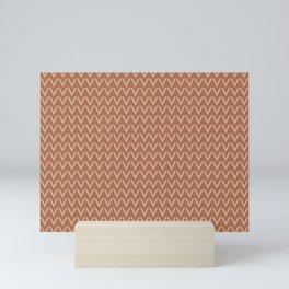 Ligonier Tan SW 7717 V Shape Horizontal Lines on Cavern Clay SW 7701 Mini Art Print