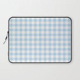 Gingham Light Blue - White Laptop Sleeve
