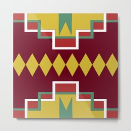 Native pattern Metal Print
