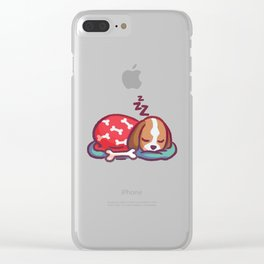Sleep Tight Little Pup Clear iPhone Case
