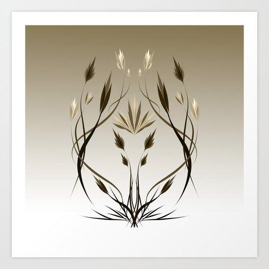 floral emblem 1 Art Print