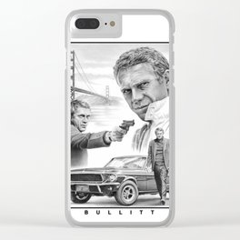 Steve McQueen Bullitt Clear iPhone Case