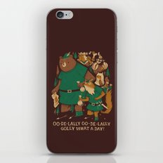 oo-de-lally (brown version) iPhone & iPod Skin