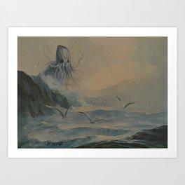 Lurking in the Mist Art Print