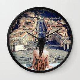 Santa Sede Wall Clock