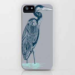 Bewitching blue heron iPhone Case