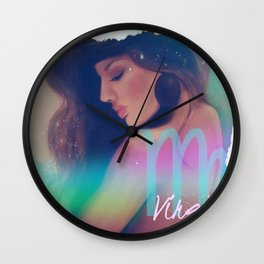 Painting, illustration, collage, Zodiac signs, art Wall Clock