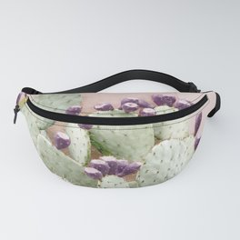 Cactus Against Stucco Wall Fanny Pack