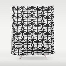 Vintage Window Grille Cross Stitch Pattern #8 Shower Curtain