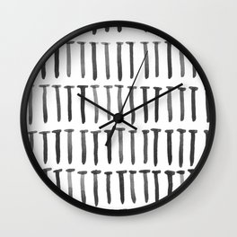 Nails watercolor Wall Clock