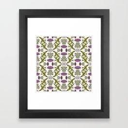 Wild Thistle Meadow Framed Art Print