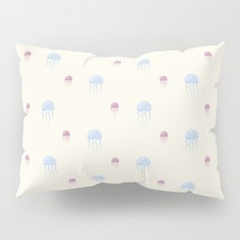 Sea pattern with jellyfishes Pillow Sham