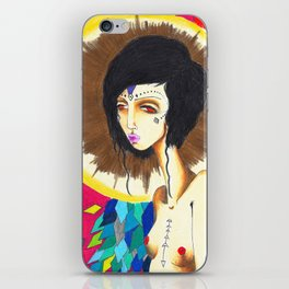 Geometric Madonna  iPhone Skin