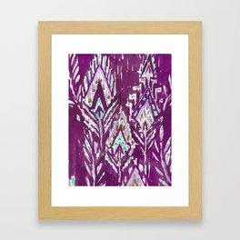 BRAVE FEATHER TRIBAL - PLUM Framed Art Print