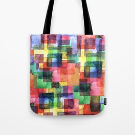 Watercolor blots plaid :) Tote Bag