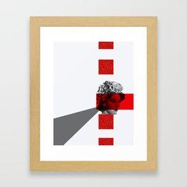 red eyes grey triangle Framed Art Print