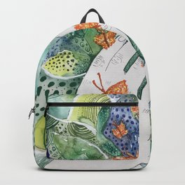 abstract whimsical nature art Backpack