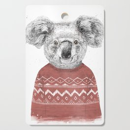 Winter koala (red) Cutting Board
