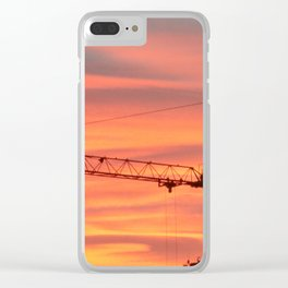 Sunrise. End of works. Clear iPhone Case