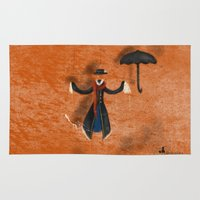 mary poppins Area & Throw Rugs featuring Mary Poppins by fedralita