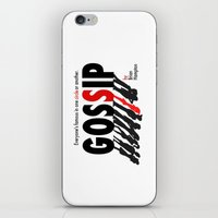 gossip girl iPhone & iPod Skins featuring Gossip by Brian Hampton