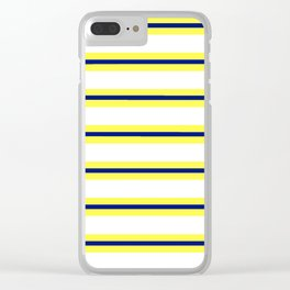 Nautical Yellow, White and Navy, Crisp and Clean Lines Clear iPhone Case