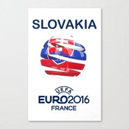 SLOVAKIA UEFA EURO 2016 Canvas Print
