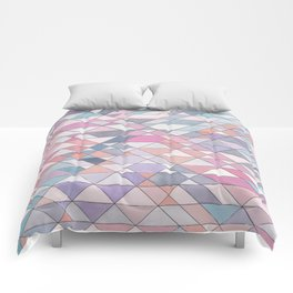 Triangle Pattern no.25 Light Pink Comforters