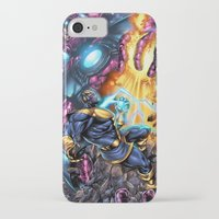 thanos iPhone & iPod Cases featuring Thanos Vs  by MonsterBox