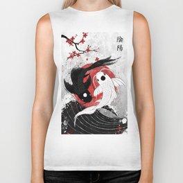 Koi fish - Yin Yang Biker Tank