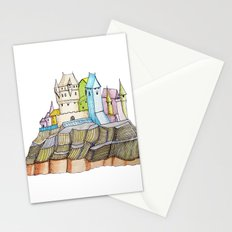 fairytale castle on a cliff Stationery Cards