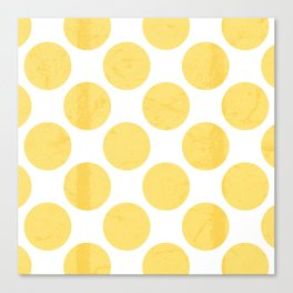 Yellow Polka Dot Canvas Print