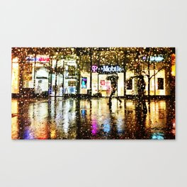 Greenwich In The Rain Canvas Print