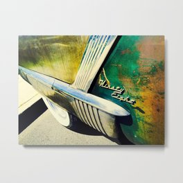 Classic Car Vintage Green Red Rusty Chrome Metal Print