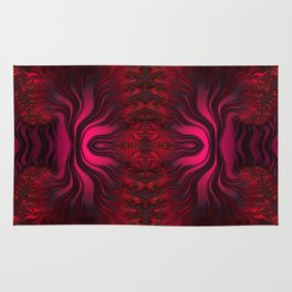 Sunset Reflections Dancing on the Ocean Fractal Abstract Rug