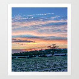 Sunset & Snow Art Print