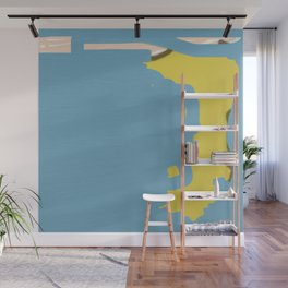 Map Abstraction Wall Mural