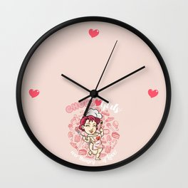 "CHUBBY GIRLS ""Ever hungry of love"" Wall Clock"