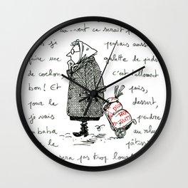 A Few Parisians: Marché de Passy by David Cessac Wall Clock