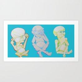 Buddha Babies Art Print