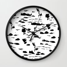 Black and white mess Wall Clock